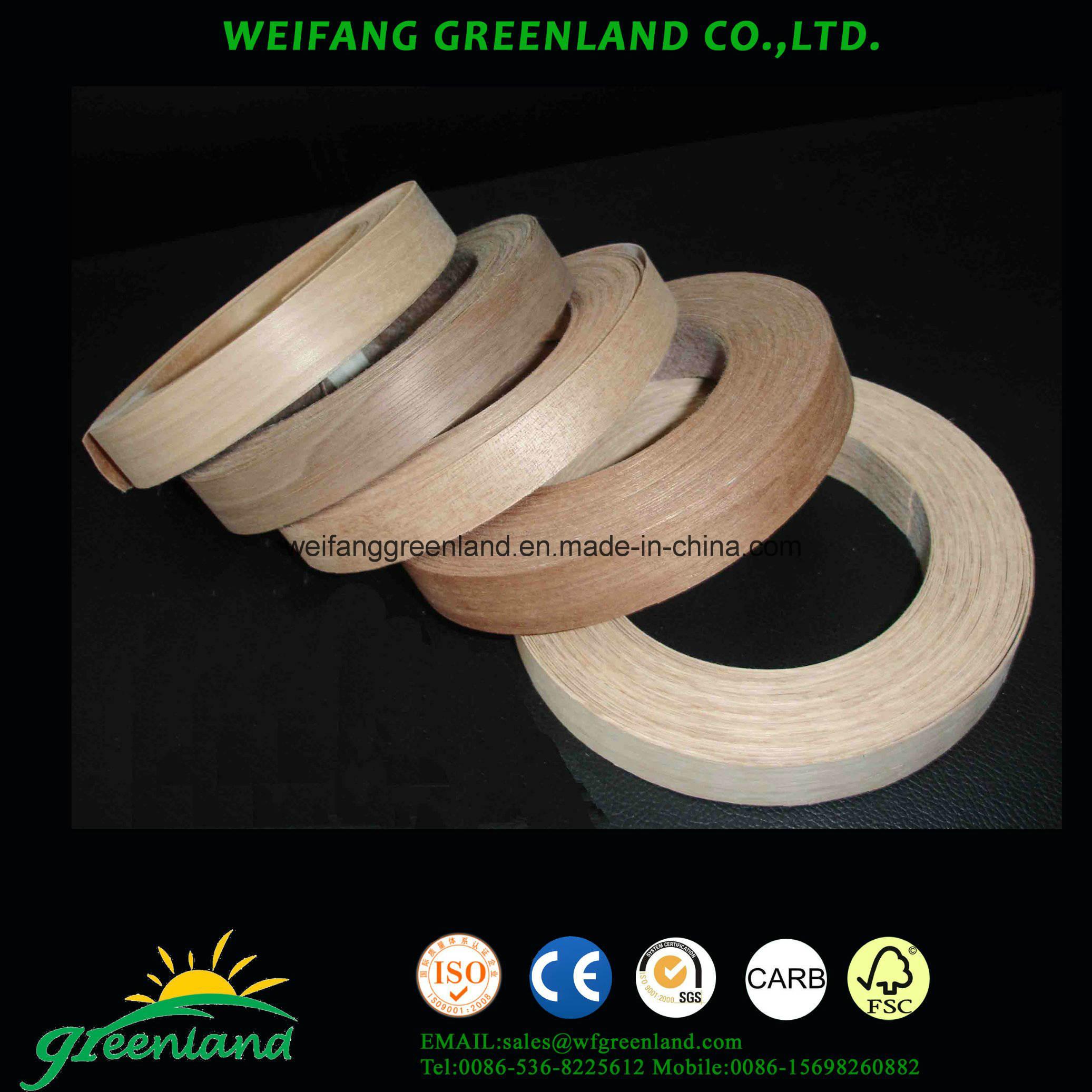 Teak Wood Veneer Edge Banding Tapes for Furmiture Produce