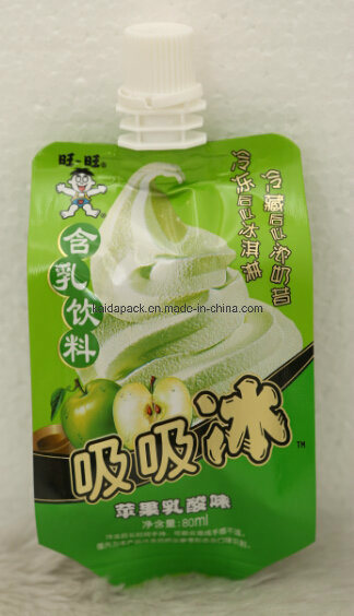 80ml Plastic Stand up Gusset Spout Pouch for Juice