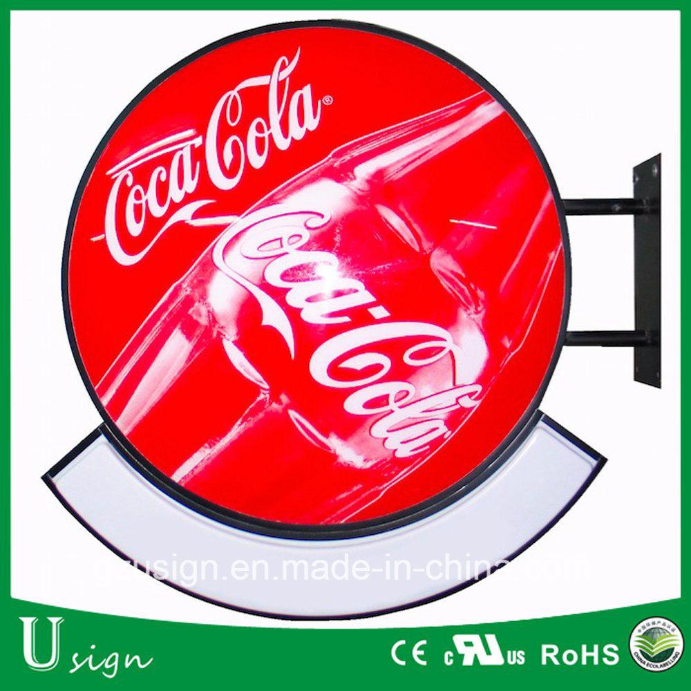 New Design Advertising Outerdoor Round Plastic LED Vacuum Forming Light Box