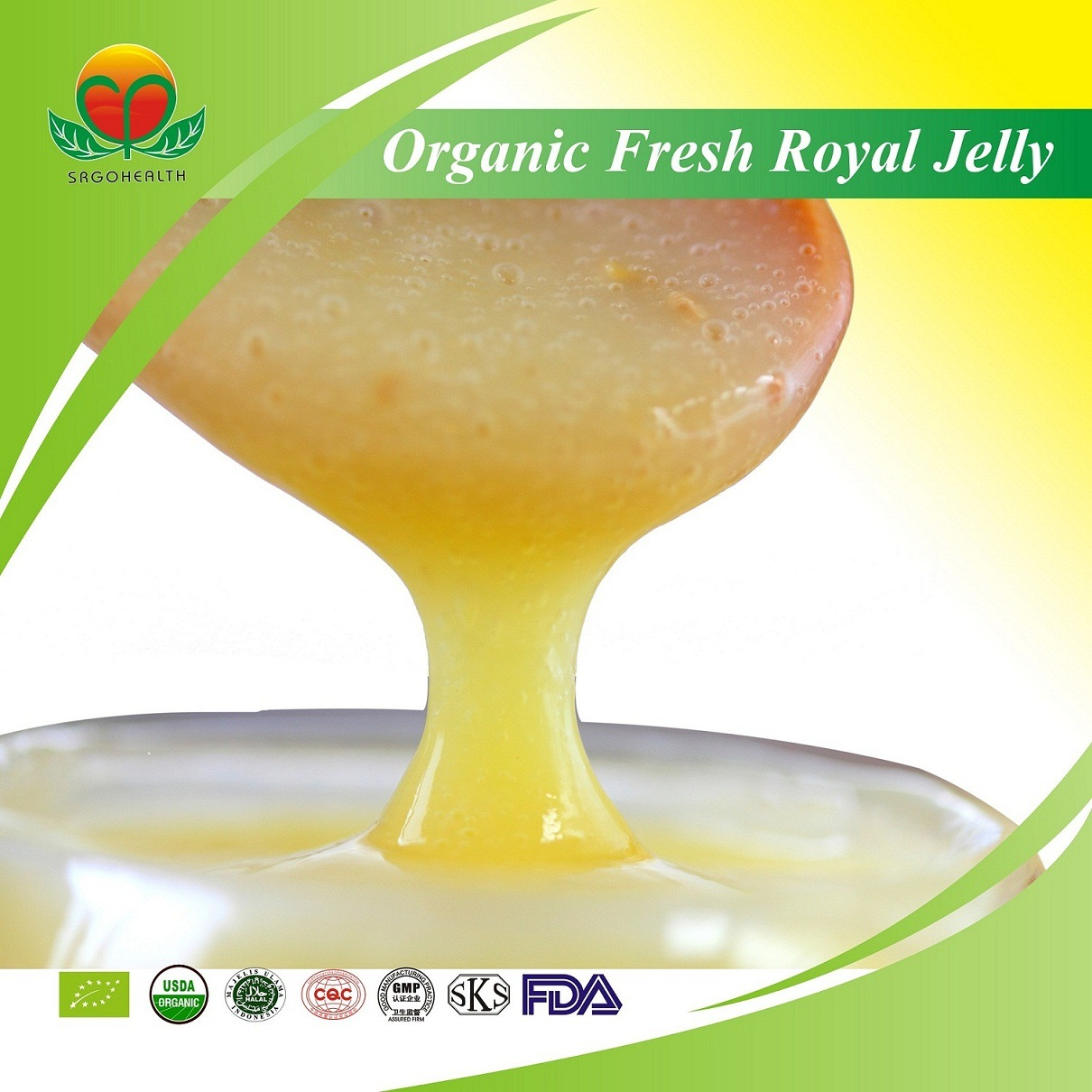 Manufacture Supply Organic Fresh Royal Jelly
