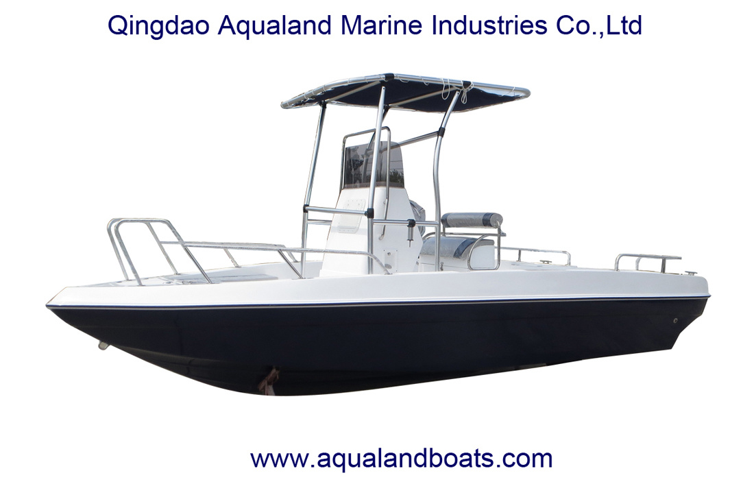 China Aqualand 21feet 6.3m Fiberglass Fishing Boat/Center Console Speed Boat