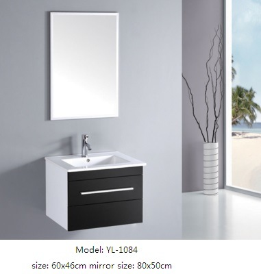 Bathroom Cabinet with Mirror MDF Furniture