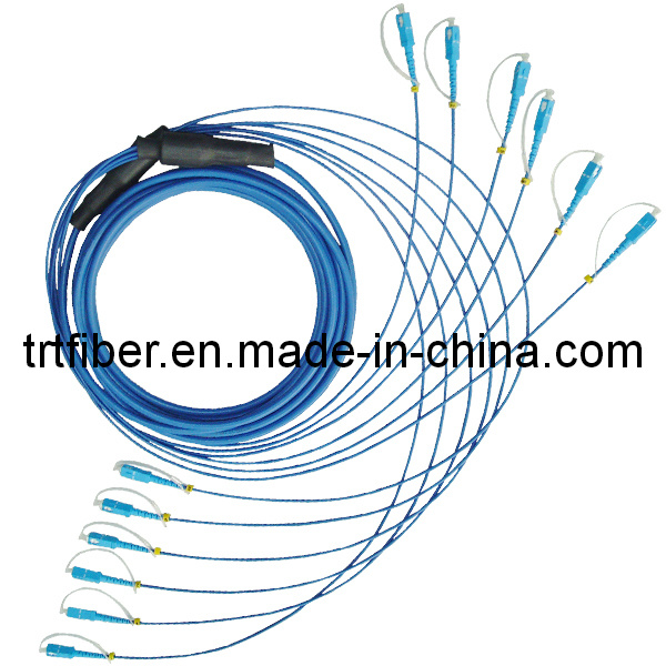 SC-SC/UPC Armored Fiber Optic Patch Cord 6 Cores