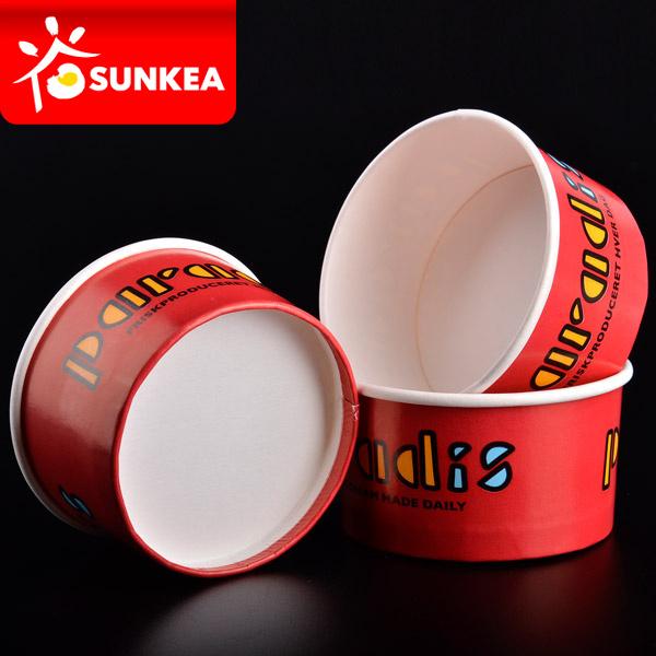 Custom Logo Printed Paper Ice Cream Cup