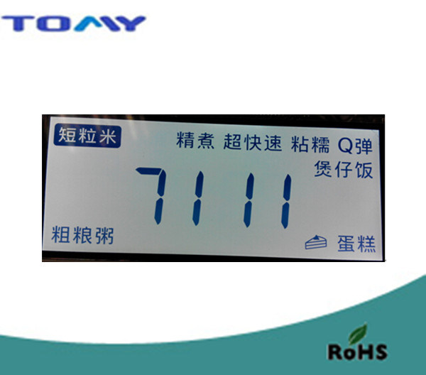 Htn Positive LCD Display with White Backlight