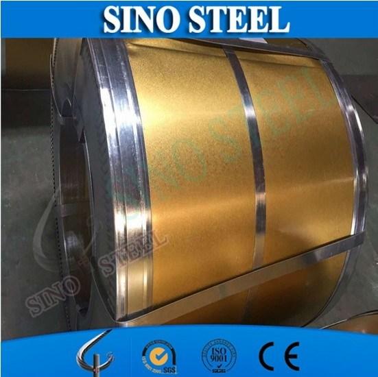 Printing Tinplate Golden Lacquered for Can Making