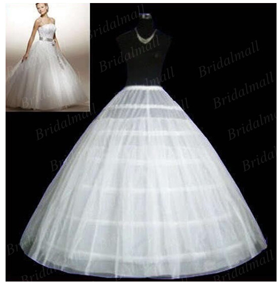 Ball Gown Discount Underskirt 6 Hoop Wedding Petticoat P-001