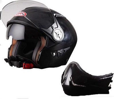 Fashion Dual Use Half Face Helmets Double Visors ECE/DOT Certification