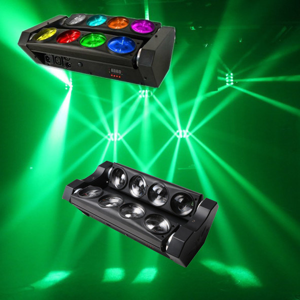 New White LED Spider Beam Scanner Effect Stage Party Light