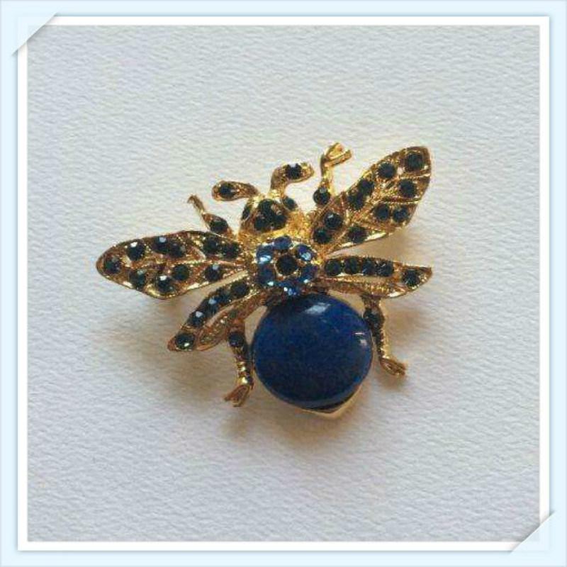 New Design Glass Pearl Stones Fashion Jewellery Brooch