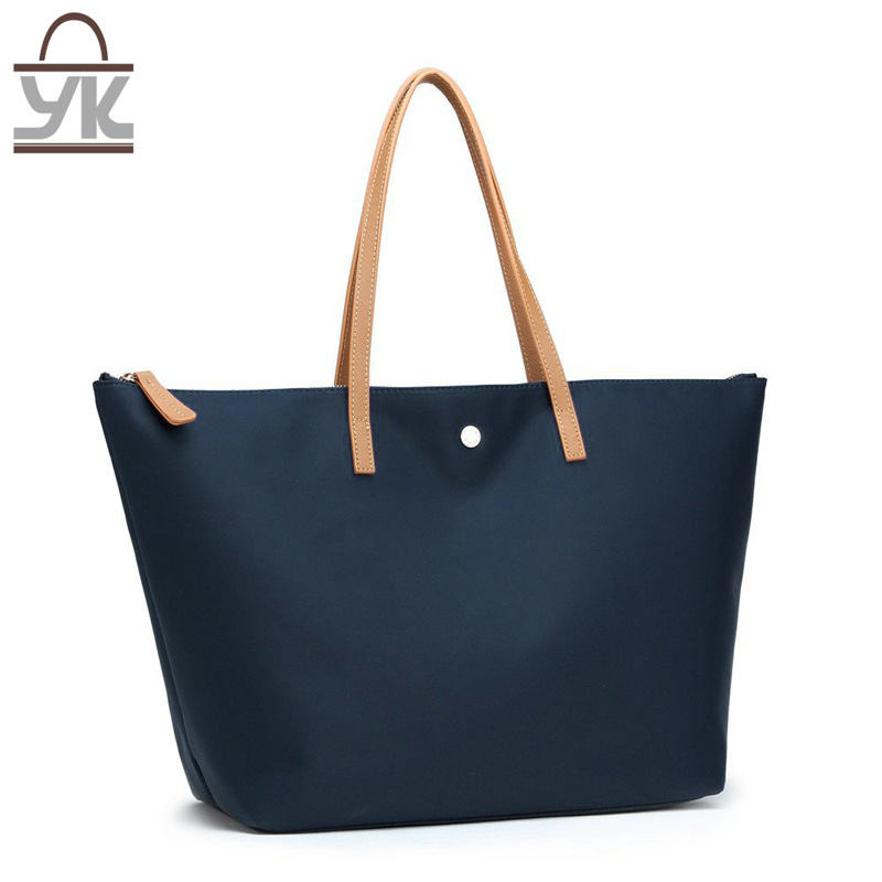 Fashion Contrast Color Nylon Women Handbag