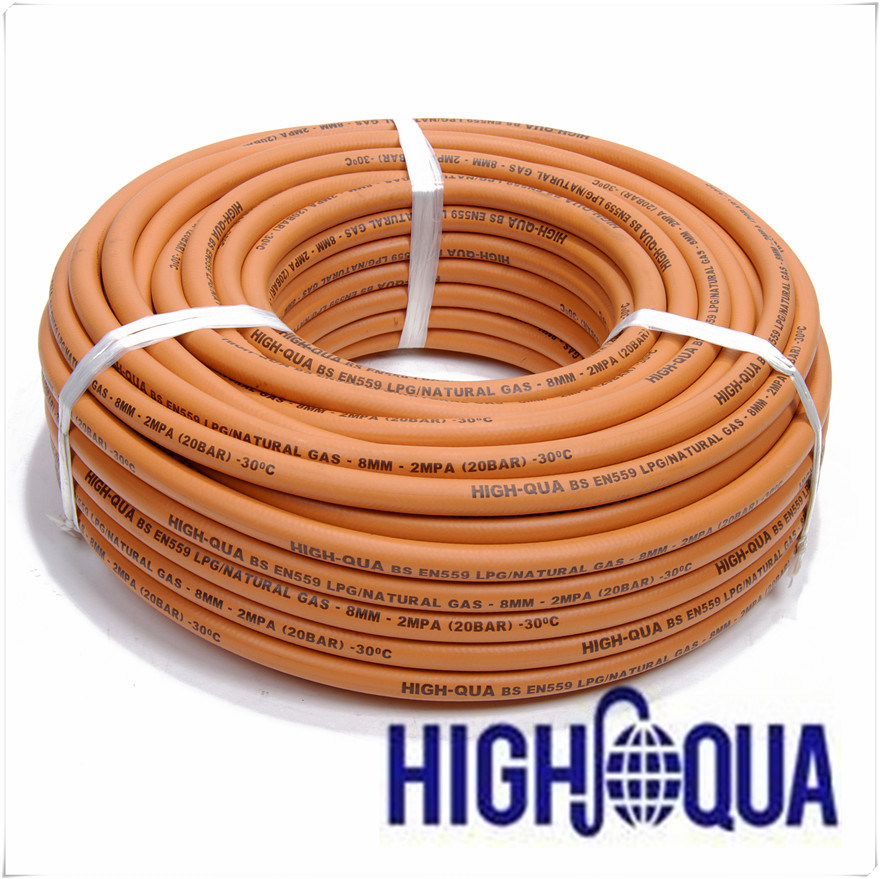Flexible High Quality Natural Gas Hose with Fiber Braid