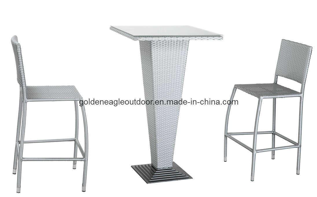 Outdoor Used PE Rattan Garden Furniture Bar Chair (FP0043)