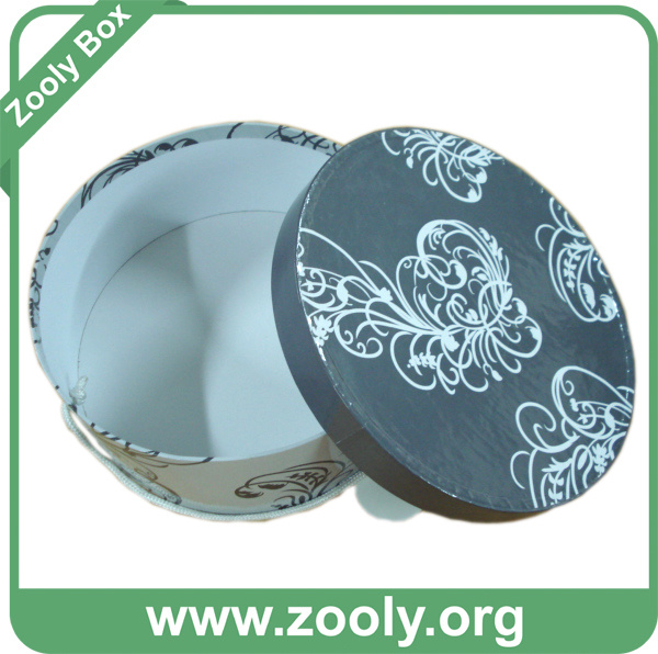 Round Cardboard Paper Hat Box / Printed Decorative Wedding Gift Box