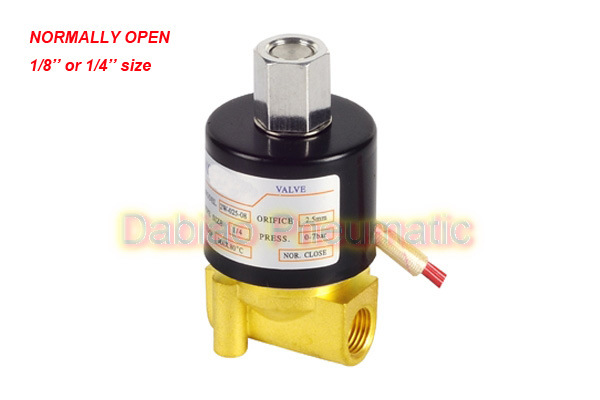 "1/4′"" Normally Open Brass Electric Solenoid Valve 2W012-08-K 12VDC"