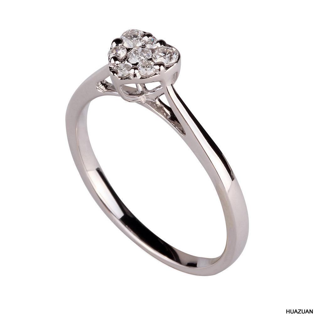 China 18k White Gold Diamond Wedding Ring Jewellery 1019 3