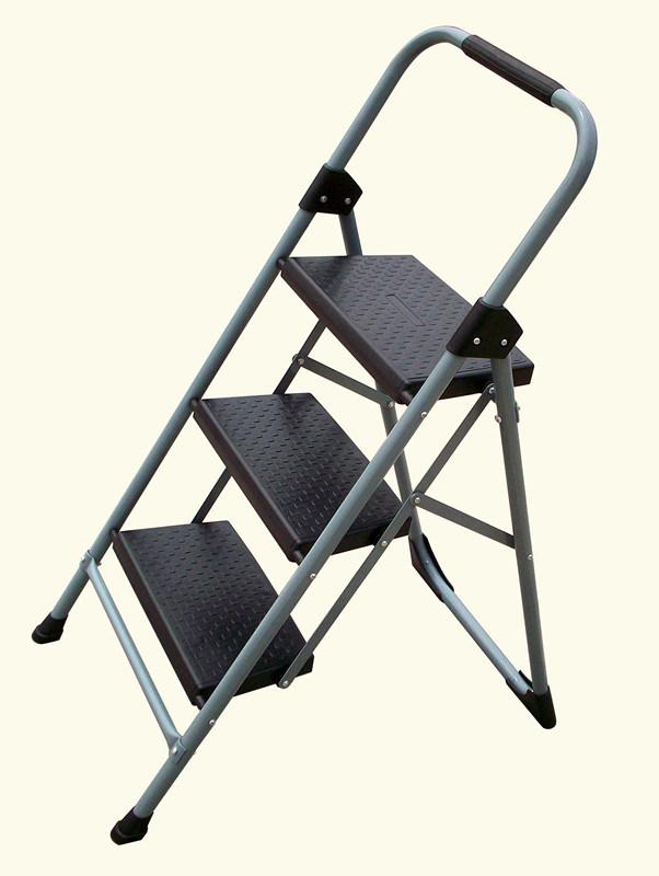 Household Heavy Duty Three Steps Steel Step Stool Ladder