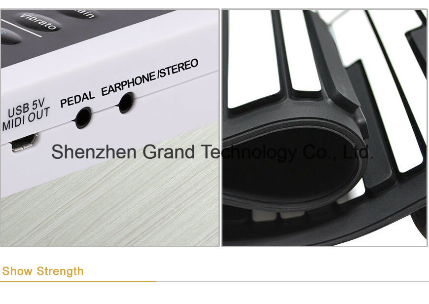 Soft Keyboard Hand Roll Piano with 88 Keys (GPC-88)