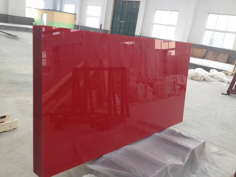 Red /Grey Painted Glass