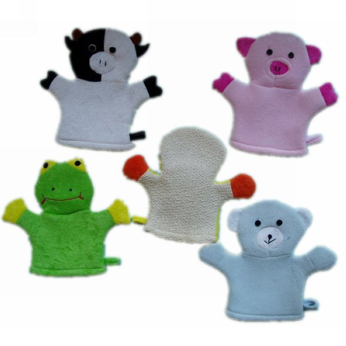 Baby Animal Bath Cleaning Glove for Promotion (KLB-049)