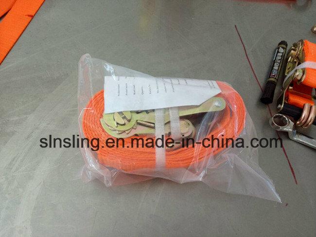 5tx8m 100% Polyester Ratchet Tie Down Strap