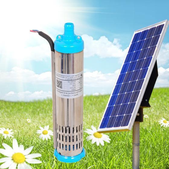 10m Solar Water Pump 3cbm Per Hour 132W Lowest Voice