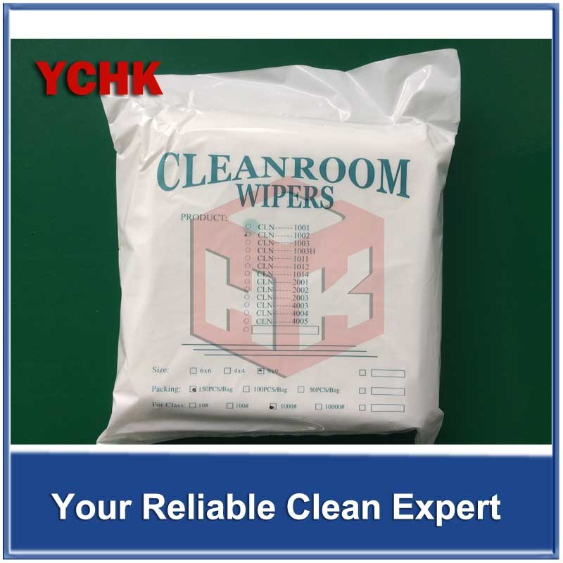 Ultrasonic Sealed Edge Microfiber Industrial Disposable Dustless Cloth Cleaning Wipers