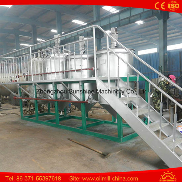 100t Vegetable Oil Refinery Plant Oil Refinery Equipment