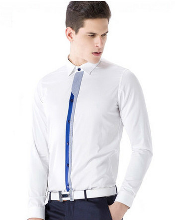 Men′s Solid White Cotton Shirt