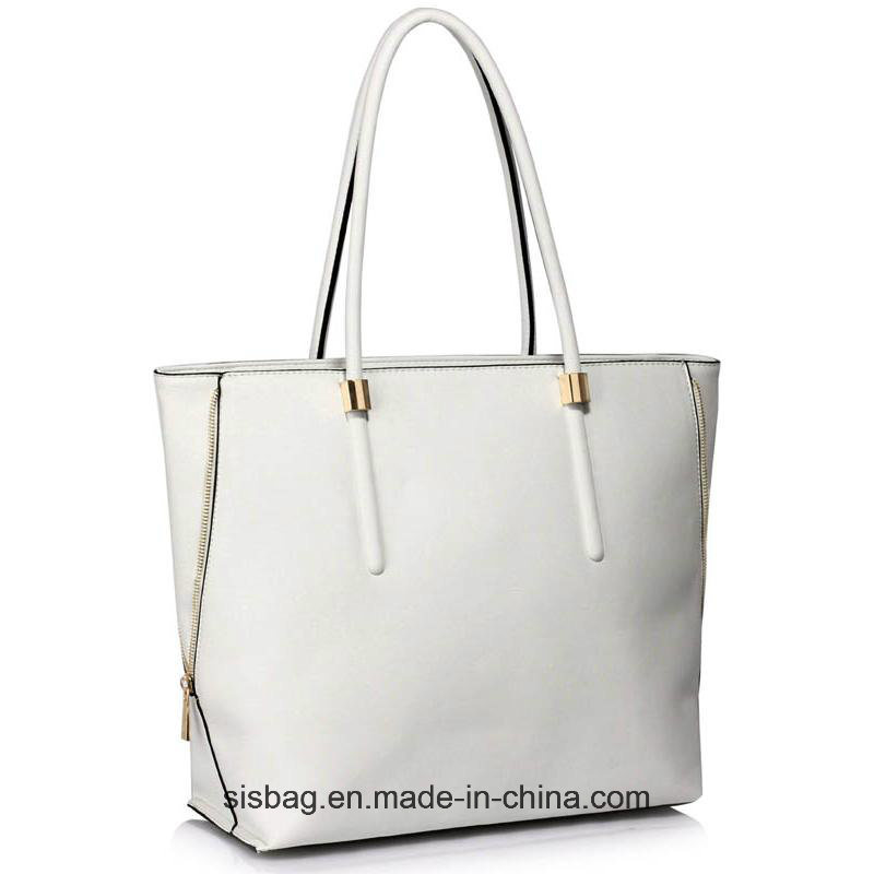 High Quality Taupe Zipper Detail Shoulder Bag