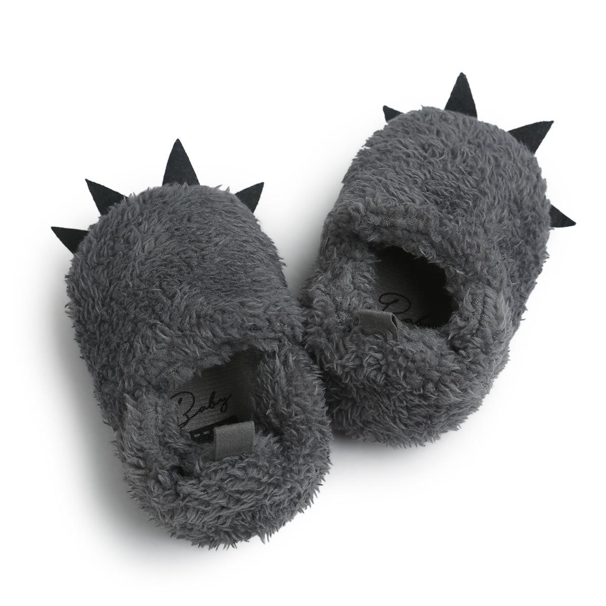 Baby Boys Girls Bear Paw Animal Slipper Bootstoddler Infant Crib Shoes