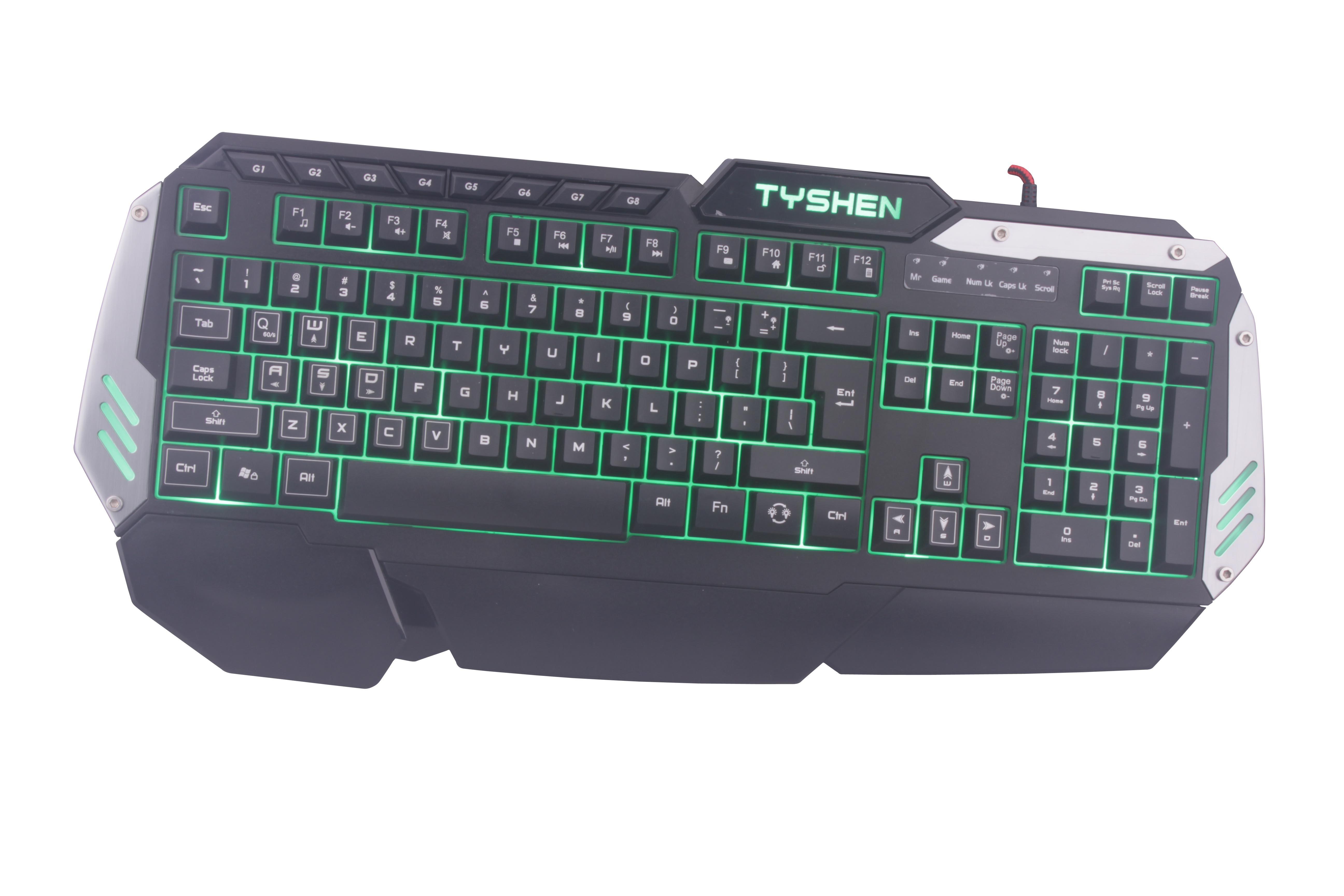 Backlight Gaming Keyboard, 8 Keys Editable (KBB-024)