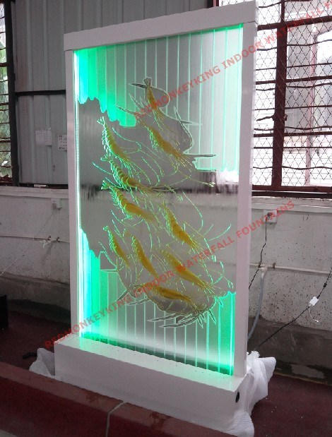 China Indoor Waterfall Fountain With Bamboo Leaves Pictures A0207 B0207 China Waterfall
