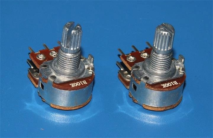 16mm Rotary Potentiometers Dual Unit for Auido Equipment (RP1610GO)