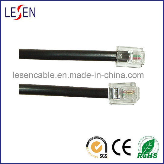 Rj11 Telephone Cable with RoHS Certification