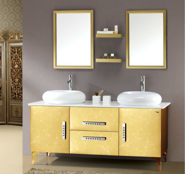 2016 Bathroom Furiture Hot Selling Stainless Steel MDF Bathroom Cabinet