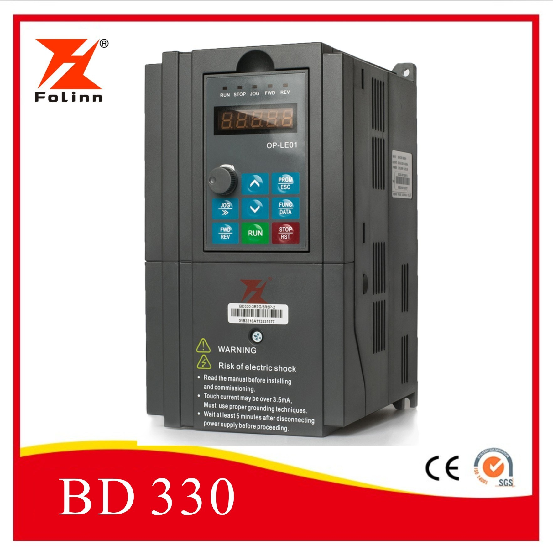 High Performance Vector Control Variable Frequency AC Drive Converter VSD VFD Frequency Inverter (Bd330)