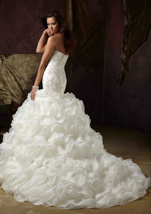 2014 Fashion Lace Bridal Gowns Wedding Dress (WMA001)
