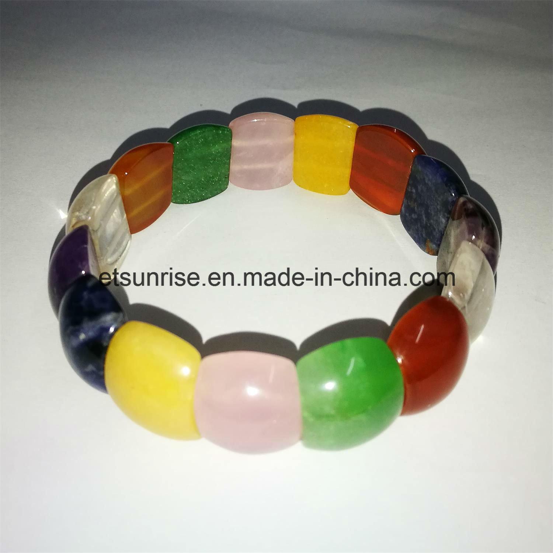 Semi Precious Stone Mix Color Natural Crystal Amethyst Beaded Bracelet