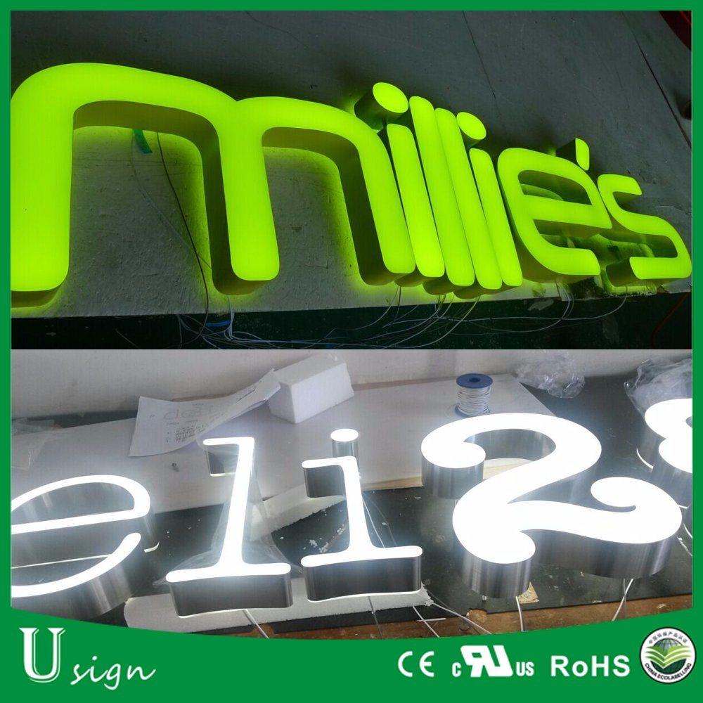 Front Lit & Backlit LED Advertising Signage for Shops