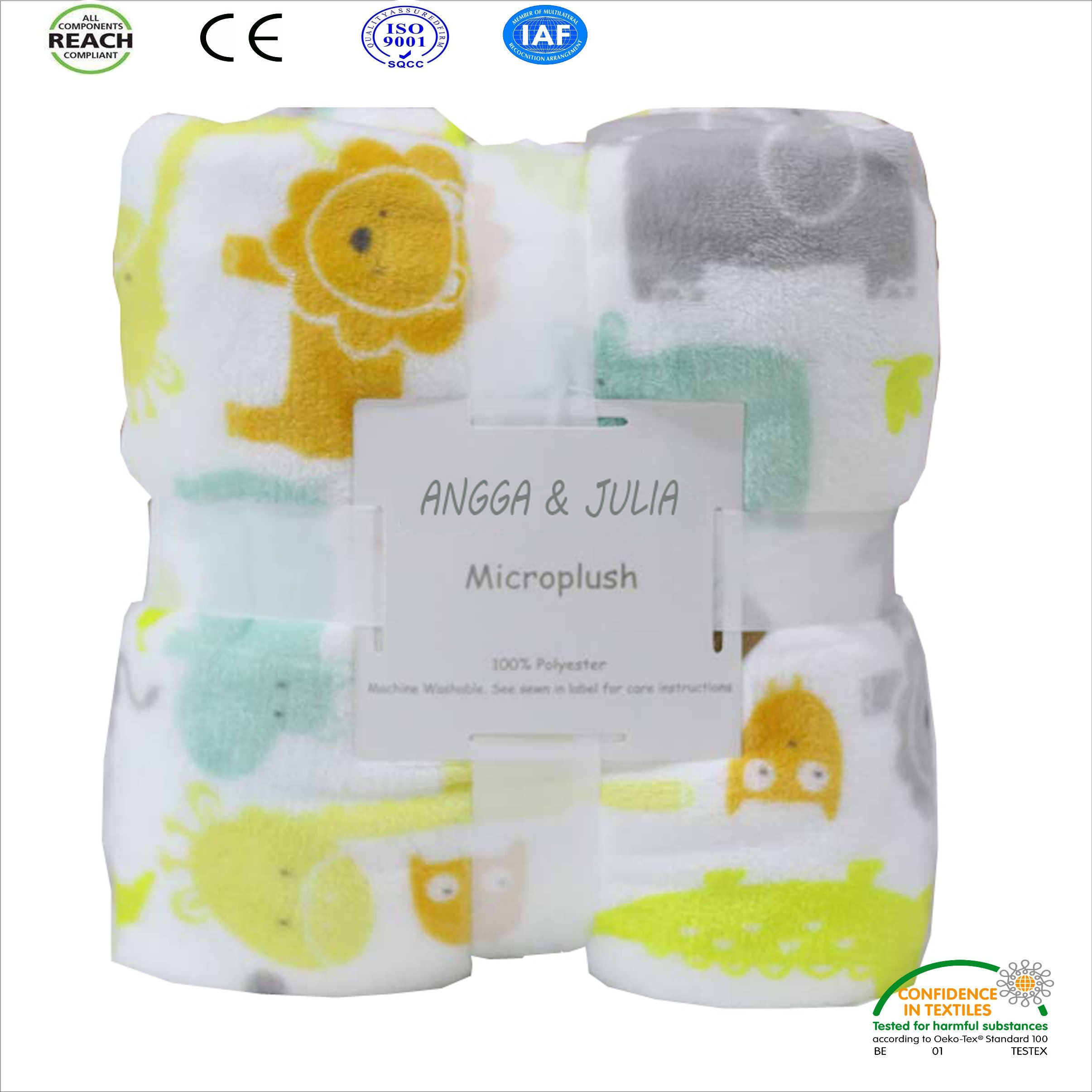 Safety Newborn Coral Fleece Blanket for Baby