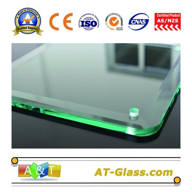 8~12mm Toughened Glass Tempered Glass Used for Bathroom/Furniture/Fence, etc