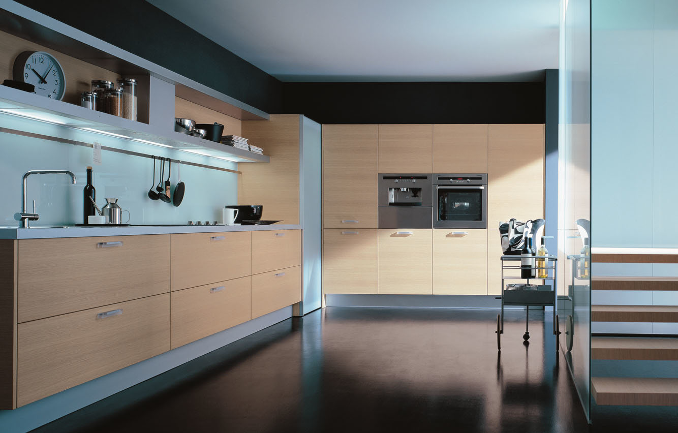 Cabina de cocina de madera de la melamina del grano de los for Gabinetes de cocina modernos