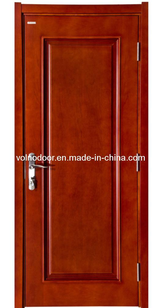 Solid Meranti Exterior Wooden Door Entrance Door Decoration with Glass Door