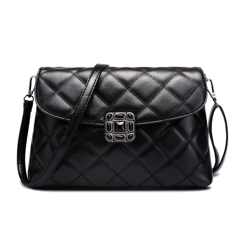 New Style Designer PU Women Cross Body Clutch Black Ladie Bag (4588)