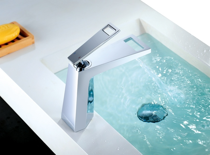 Vanity Tall Stainless Steel Water Tap Mixer
