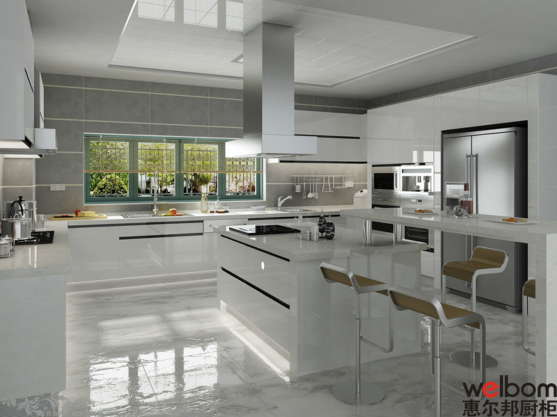 China 2015welbom modern european high gloss kitchen for High gloss kitchen cabinets