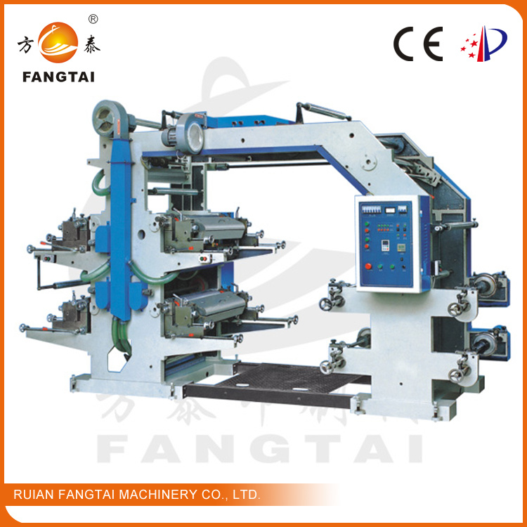 4 Color 600mm Wide Flexo Printing Machine (CE)