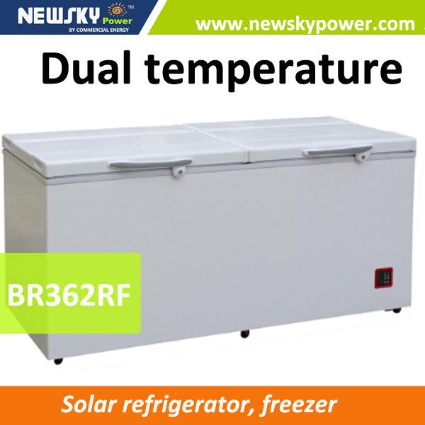 362L Solar Refrigerator Freezer Solar Freezer
