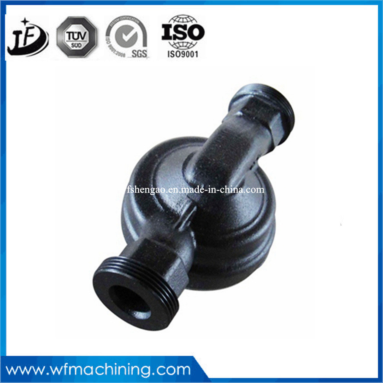 OEM Metal Foundry Grey/Ductile Iron Casting Pipe Fitting with Metal Processing